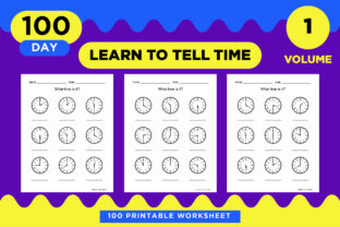 Print on Demand: What Time is It? - 100 Printable Paper Graphic Teaching Materials By Riduwan Molla