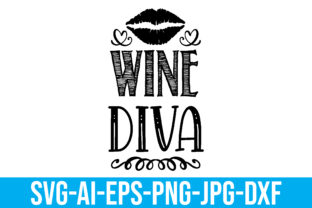 Wine Diva Graphic Crafts By Printable Store
