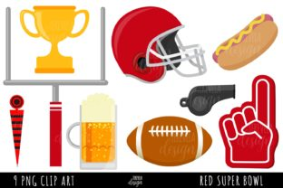 AMERICAN FOOTBALL, READ FOOTBALL TEAM Graphic Illustrations By TereVela Design