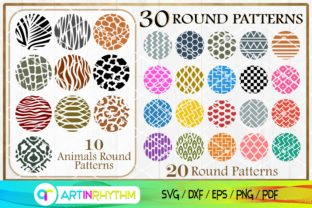 Animals Round Pattern, Keychain Svg Graphic Crafts By artinrhythm
