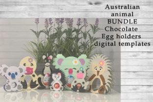 Australian Animal BUNDLE Egg Holders Graphic 3D SVG By PocketFulOfPrintouts