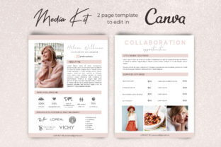 Blogger Media Kit Template for Canva Graphic Presentation Templates By Business Chic Studio