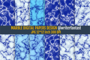Blue Marble Digital Papers, Blue Marble Graphic Textures By Writerfantast