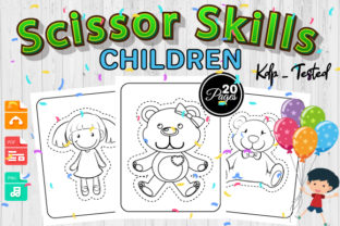 Print on Demand: Children Scissor Skills Color Book Vol 1 Graphic Coloring Pages & Books Kids By Trend Color
