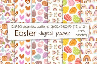 Print on Demand: Collection of Seamless Easter Patterns Graphic Patterns By TanyaPrintDesign