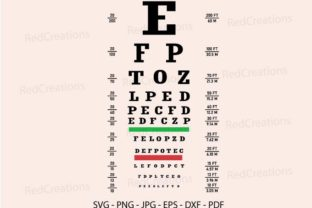 Eye Test Chart Svg, Vision Exam Graphic Crafts By RedCreations