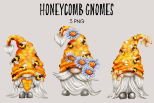 Print on Demand: Honeycomb Gnomes Grafik Illustrationen von Celebrately Graphics