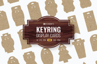 Print on Demand: Keyring Display Cards Graphic Crafts By DTCreativeLab