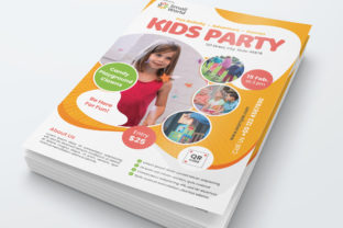 Kids Party Flyer Graphic Print Templates By bourjart_20