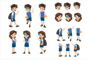 Print on Demand: Kids and Girls Back to School Graphic Illustrations By edywiyonopp