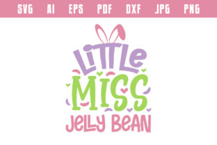 Print on Demand: Little Miss Jelly Bean, Easter Design Graphic Crafts By Netart