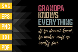 Mens Grandpa Know Everything Gift Shirt Graphic Crafts By Designstore