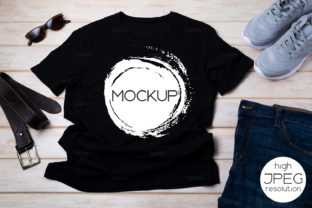 Print on Demand: Men's T-shirt Mockup & Running Shoes Graphic Product Mockups By TasiPas
