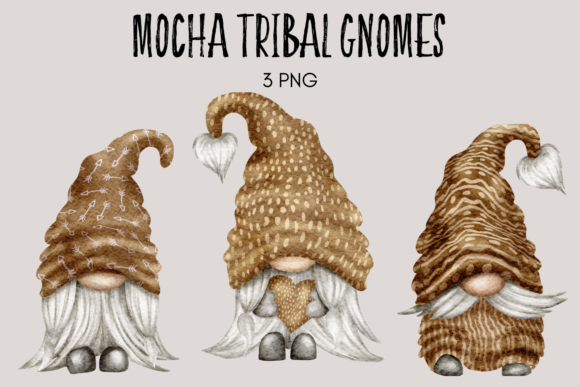 Print on Demand: Mocha Tribal Gnomes Graphic Illustrations By Celebrately Graphics