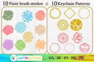 Paint Brush Strokes Svg, Keychain Svg Graphic Crafts By artinrhythm