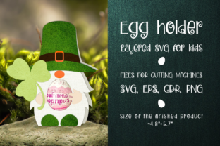 Print on Demand: Patricks Day Gnome - Egg Holder Svg Graphic 3D SVG By Olga Belova