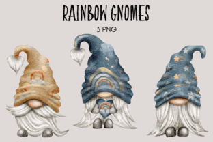 Print on Demand: Rainbows and Stars Gnomes Graphic Illustrations By Celebrately Graphics