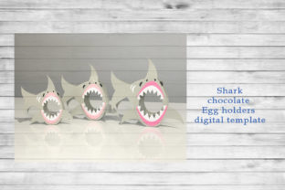 Shark Egg Holder Template Graphic 3D SVG By PocketFulOfPrintouts