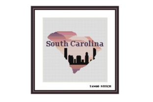 Print on Demand: South Carolina USA State Cross Stitch Graphic Cross Stitch Patterns By Tango Stitch
