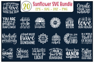 Print on Demand: Sunflower Design Bundle Graphic Print Templates By GraphicsBooth