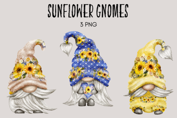 Print on Demand: Sunflower Gnomes Graphic Illustrations By Celebrately Graphics