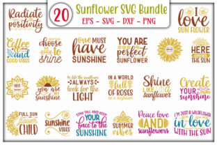 Print on Demand: Sunflower Quotes Design Bundle Graphic Print Templates By GraphicsBooth