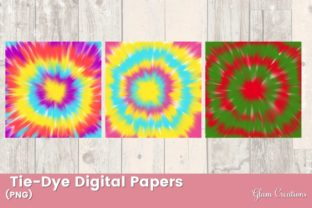 Tie-Dye Digital Papers Graphic Patterns By Glam Creations