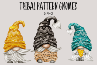 Print on Demand: Gnomos de Patrón Tribal Gráfico Ilustraciones Por Celebrately Graphics