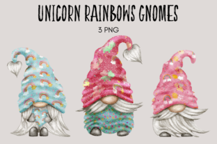 Print on Demand: Unicorns and Rainbows Gnomes Graphic Illustrations By Celebrately Graphics