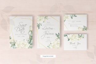 Print on Demand: Wedding Invitation Set with Watercolor Graphic Print Templates By FederiqoEND