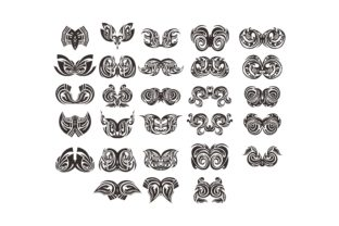Print on Demand: Black Emblem Tribal Tattoo Vector Bundle Gráfico Crafts Por Arief Sapta Adjie