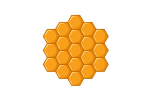 Hexagon Honeycomb Designs & Drawings Craft Cut File By Creative Fabrica Crafts