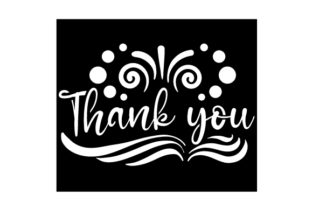 Thank You Stencil Motive Designs & Drawings Craft Cut File By Creative Fabrica Crafts
