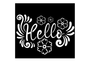 Hello Stencil Motive Designs & Drawings Craft Cut File By Creative Fabrica Crafts