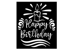 Happy Birthday Stencil Motive Designs & Drawings Craft Cut File By Creative Fabrica Crafts