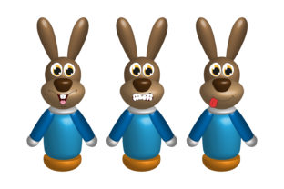 Print on Demand: 3D Dog Toy Character Graphic Illustrations By curutdesign