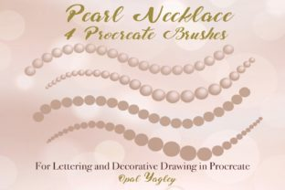 Print on Demand: 4 Pearl Necklace Procreate Brushes Graphic Brushes By opal.yagley