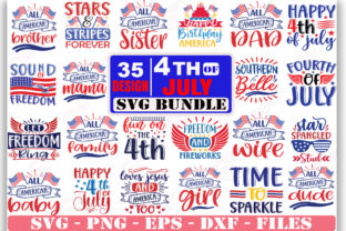 4th-of-july-SVG Bundle Graphic Print Templates By Sellzz