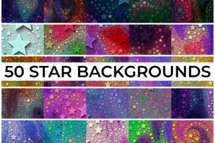 Print on Demand: 50 STAR BACKGROUNDS Vol 1 Graphic Backgrounds By CahKlirong Designs