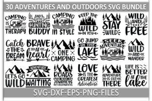 Adventures and Outdoors SVG Bundle Graphic Print Templates By Craftdesignbulk.com