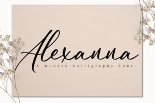 Print on Demand: Alexanna Script & Handwritten Font By FatmaStudio