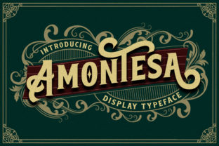 Print on Demand: Amontesa Display Font By Megatype