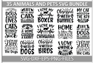 Animals-and-Pets-svg-Bundle Graphic Print Templates By Sellzz