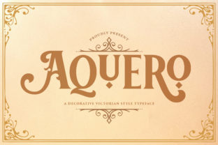 Print on Demand: Aquero Blackletter Font By StringLabs