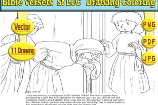 Print on Demand: Bible Versets  St LUC  Drawing Coloring Graphic Coloring Pages & Books Kids By kdp Edition