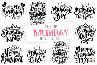 Birthday Bundle, Birthday Quotes SVG Graphic Crafts By dapiyupi
