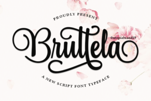Print on Demand: Bruttela Script & Handwritten Font By utopiabrand19
