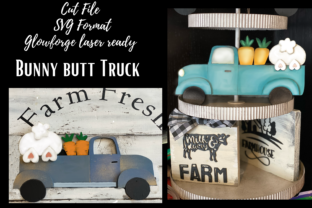 Print on Demand: Bunny Butt Truck Cut File Svg Graphic Product Mockups By Daughters inspired designs