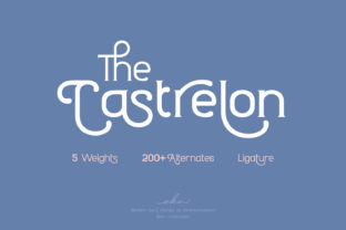 Print on Demand: Castrelon Display Font By ekahermawan