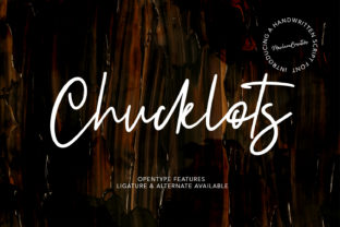 Print on Demand: Chucklots Script & Handwritten Font By Maulana Creative